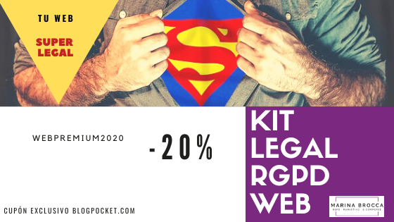 Adapta tu sitio web al RGPD tú mismo y ahora con los Kits legales de Marina Brocca
